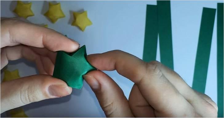 815f3779d Ako vytvoriť papierové hviezdy vlastnými rukami. Päť-hviezda hviezda ...