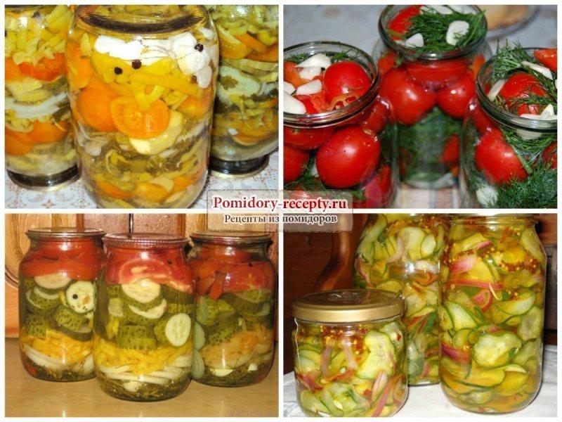 Салат из помидоров и огурцов на зиму без стерилизации