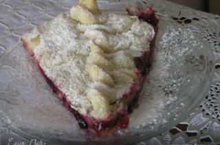 ... Kue puff defrost, gulung keluar, masukkan loyang, untuk menggantung tepinya, taburi dengan tepung. Potong apel menjadi irisan, menyebar, taburi kismis, ...